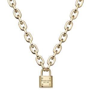 Michael Kors padlock Chain Toggle necklace